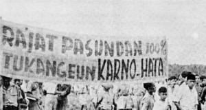 Demonstrasi rakyat Pasundan menentang pendirian Negara Pasundan (foto:IPPHOS)