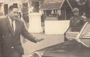 DIANGKAT JADI DUBES. Letjen Marinir Hartono usai upacara pengangkatan dirinya sebagai duta besar RI untuk Korea Utara (dokpribadi/milik keluarga besar Hartono)