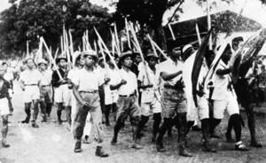 Satu barisan lasykar di era revolusi (sumberfoto: timetoast.com)