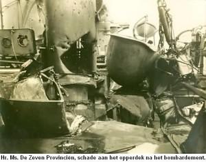 Situasi Kapal Zeven Provincien pasca pemboman (dokpribadi)