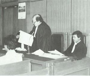 MUSUH ORBA. Princen saat menjadi advokat HAM pada era rezim Orde Baru (foto:dokumenkeluarga)